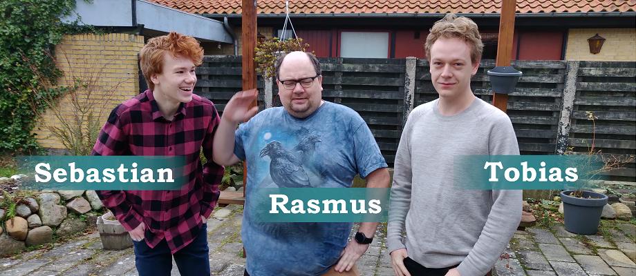 Rasmus Færge Tobias Gull Brandt Sebastian Grøndal